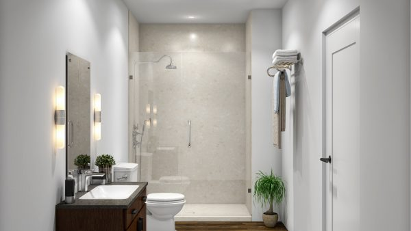 3 Panel Alcove Shower in Calabria
