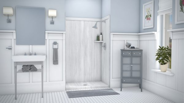 Veincut 3wall Shower 48x80in with Base