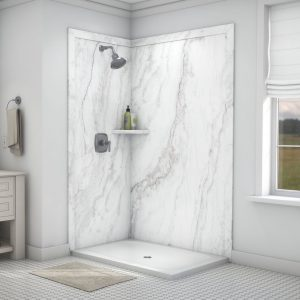 White-Pearl 2wall Shower 60x80in